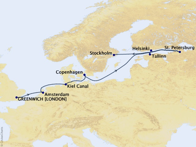 11-night London to Stockholm Voyage
