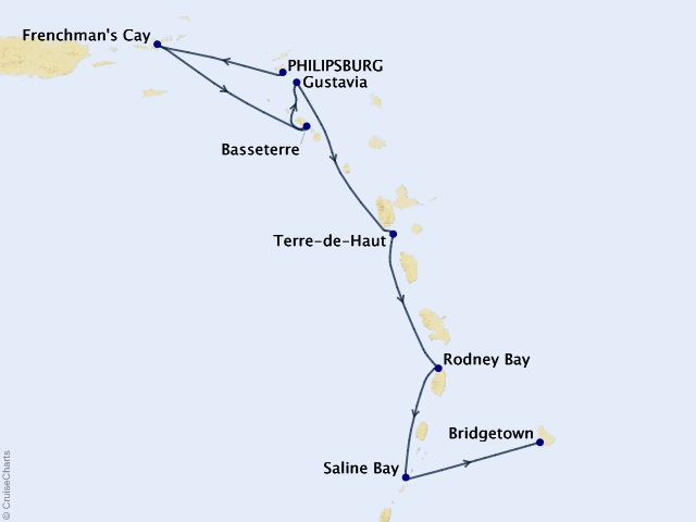7-night Yachtsman's Caribbean Cruise