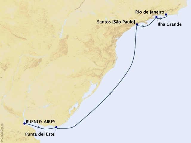 6-night South America from Buenos Aires to Rio Cruise