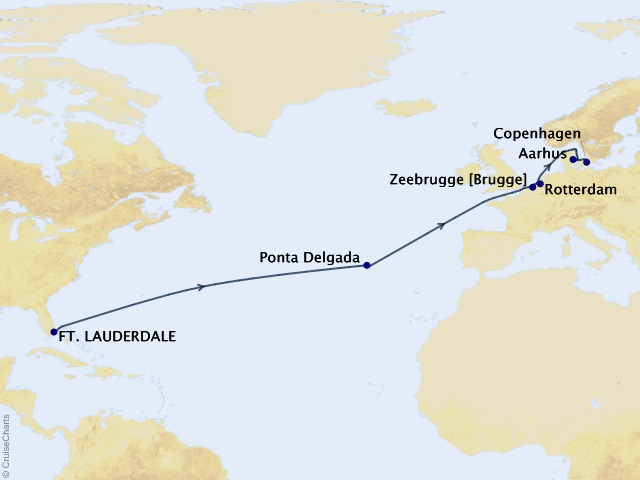Northern Europe Passage Cruise Map