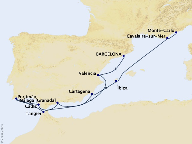 11-night Spanish Magic & Morocco Cruise