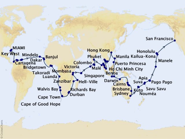 146-night 2020 World Cruise: Extraordinary Destinations