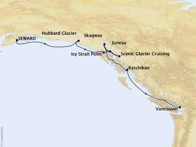 7-night Alaska with Inside Passage Southbound Cruise