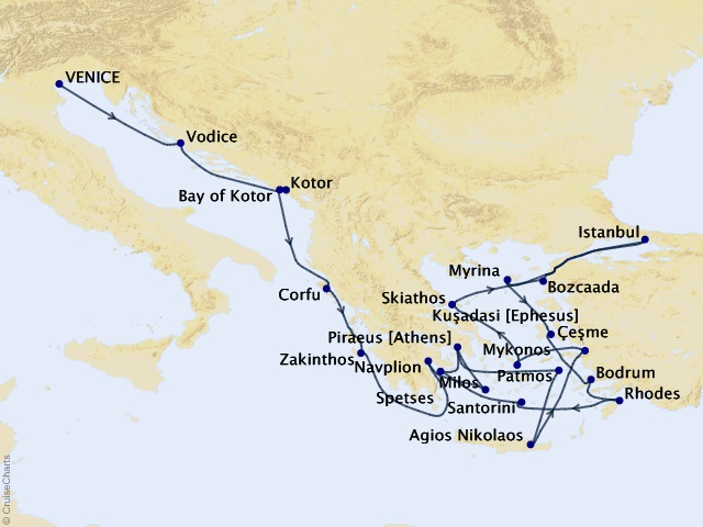 21-night Eastern Mediterranean Jewels Cruise