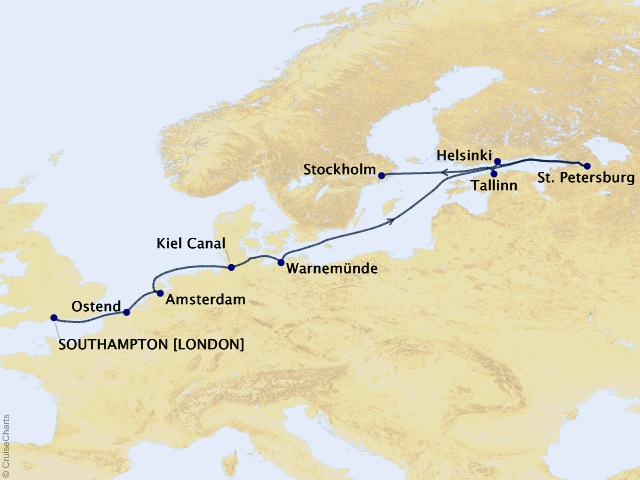 12-night Baltic Capitals Cruise