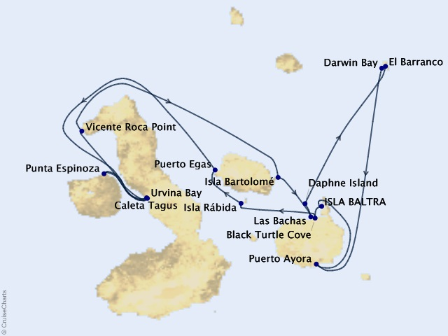 7-night Galápagos Northern Loop Cruise