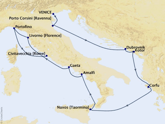 10-night Gems of Italy Cruise