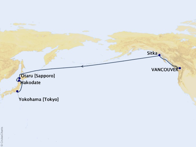 15-night Bering Sea & Japan Transpacific Cruise