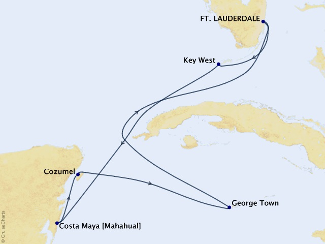 7-night Mexico, Key West, & Grand Cayman Cruise
