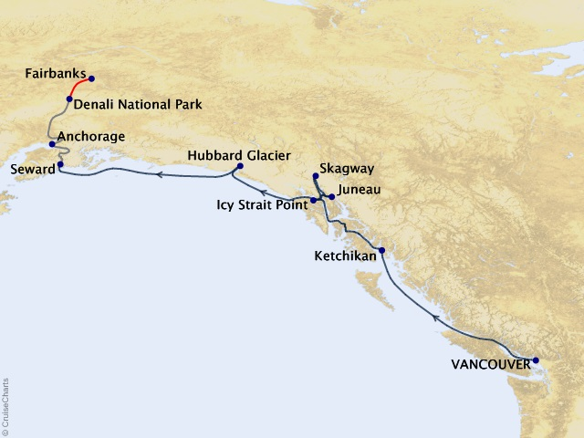 10-night Alaska Gold Rush Adventure Cruisetour #2A
