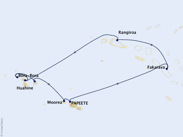 10-night Tahiti & the Tuamotu Islands Cruise