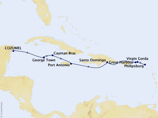 11-night Stars of the Greater Antilles Cruise