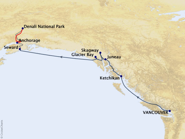 11-night Triple Denali Cruisetour #D2C