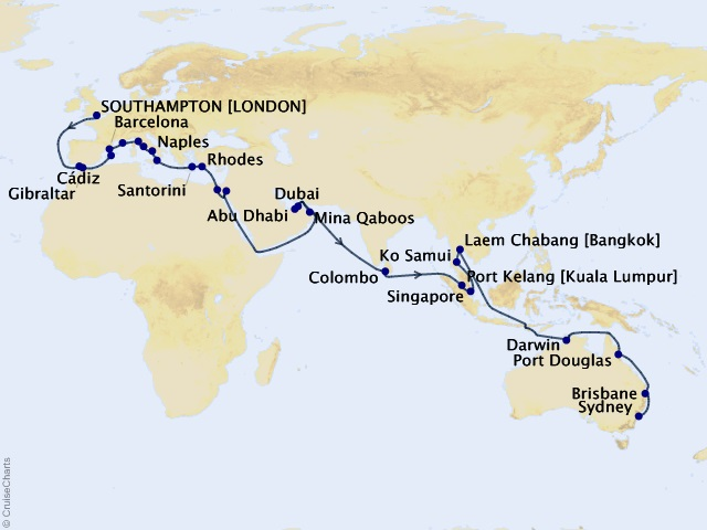 56-night Four Continents Grand Adventure Cruise | Frosch