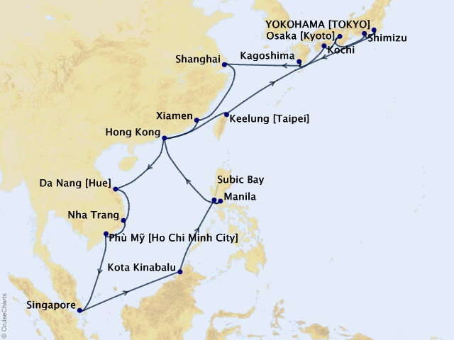 28-night Grand Asia Collection Cruise