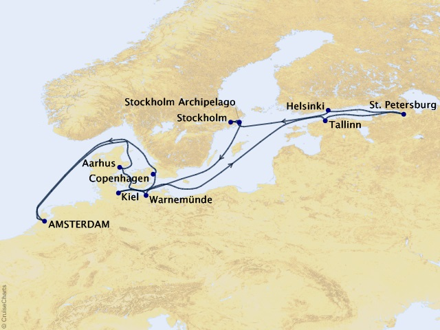 14-night Jewels of the Baltic Cruise Map