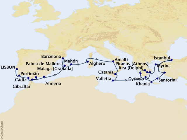 28-night Star Collector – Mediterranean Explorations Cruise