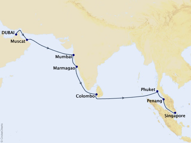 15-night Best of India & Southeast Asia Cruise