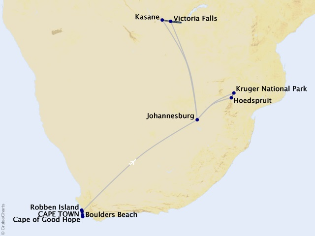 14-night Stars of South Africa Cruise/Land Package