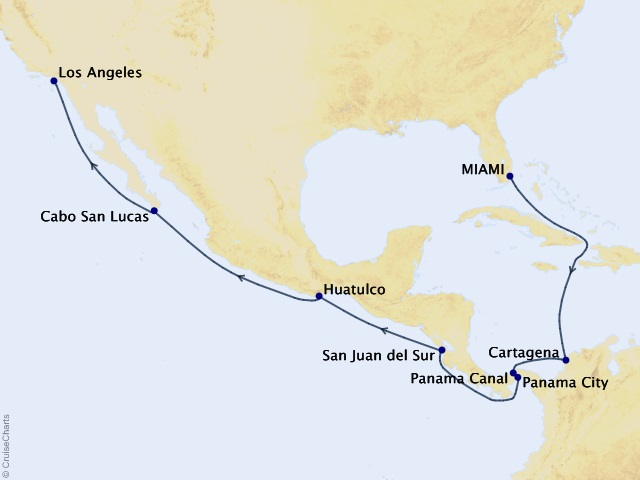 15-night Latin Rhythms and Spice Cruise Map
