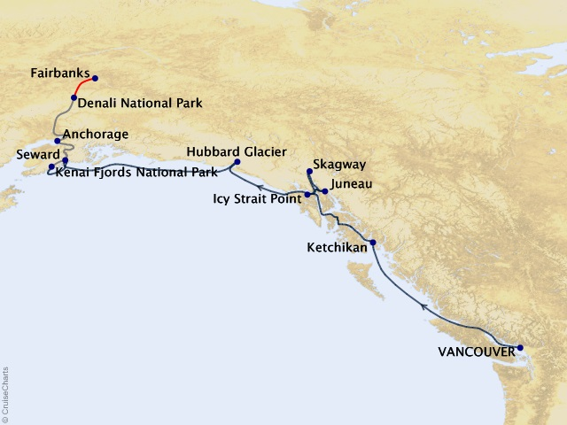 12-night The Great National Parks Expedition Cruisetour #6A