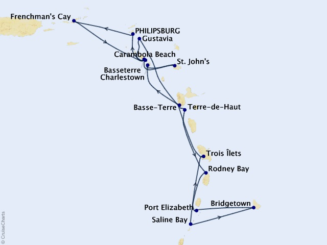 14-night Caribbean Gems In-Depth Cruise