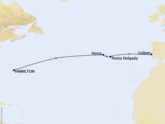 10-night Transoceanic Cruise Map