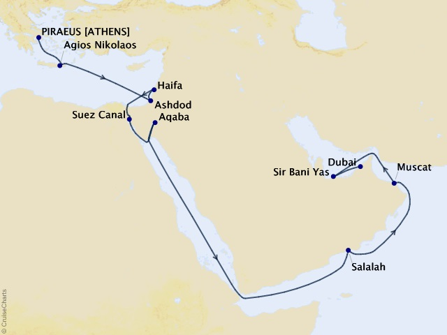 18-night Holy Land and Arabian Gems Cruise