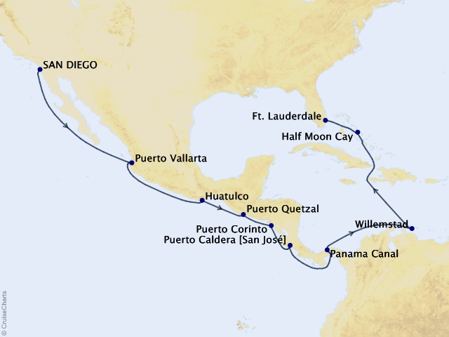 16-night Panama Canal Cruise