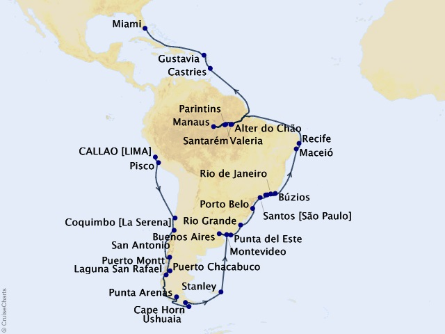 51-night Amazon, Andes, and Incas Voyage