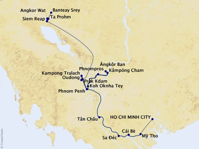 9-night Charms of the Mekong Cruise/Land Package