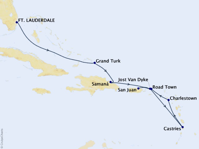 9-night Central America Cruise Map