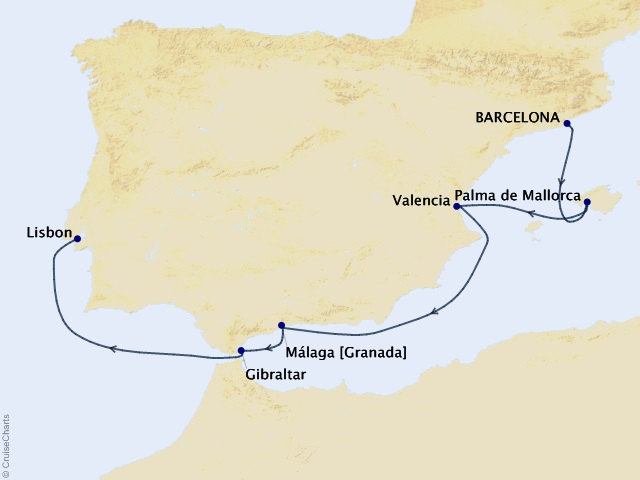 Iberian Influences Cruise Map