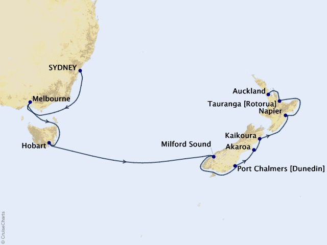 14-night Australia and New Zealand Voyage