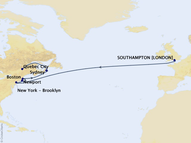 14-night Transatlantic, New England, & Canada Cruise