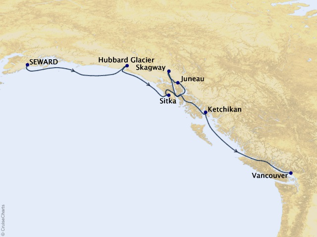 7-night Journey Into The Tongas Cruise Map