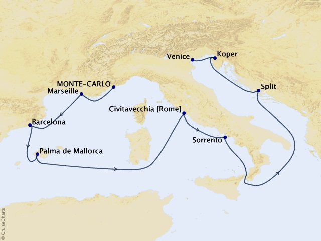 11-night Summer on the Adriatic Cruise Map