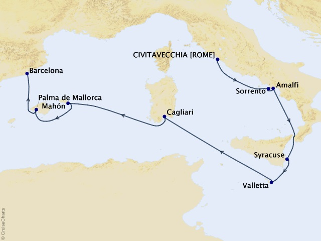9-night Italy, Malta, and Spain Voyage
