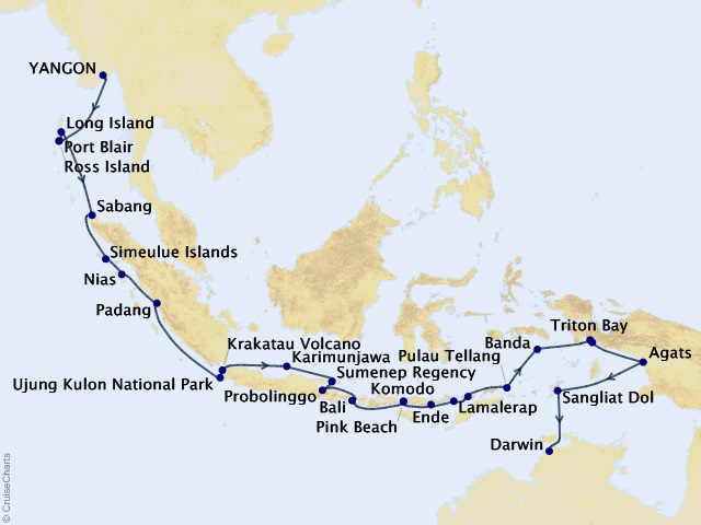 31-night Asia Expedition Cruise Map