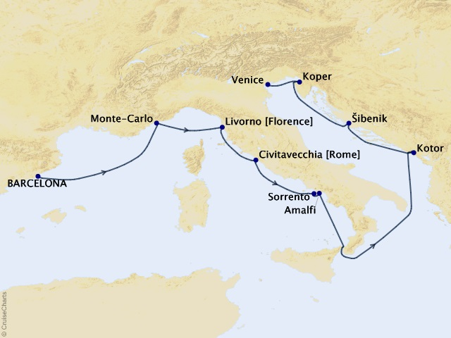 12-night Amalfi & Dalmatian Coasts Voyage
