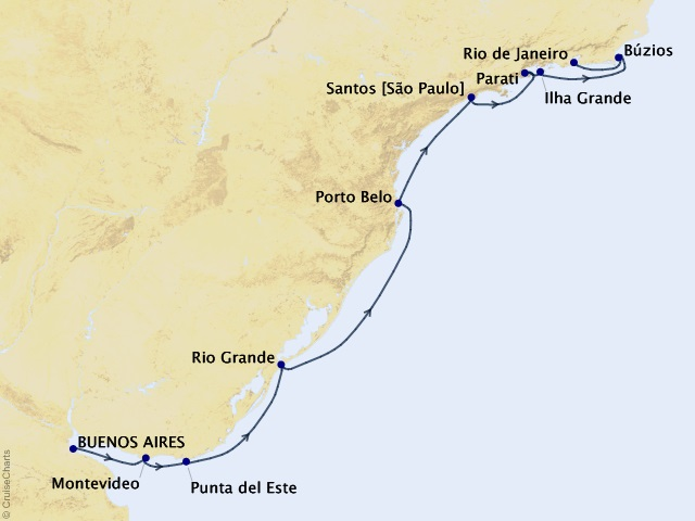 10-night Return to Brazil Cruise