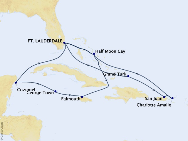 14-night Eastern / Western Caribbean Cruise