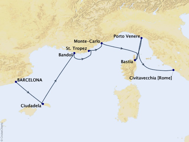 7-night Romance of the Rivieras Cruise
