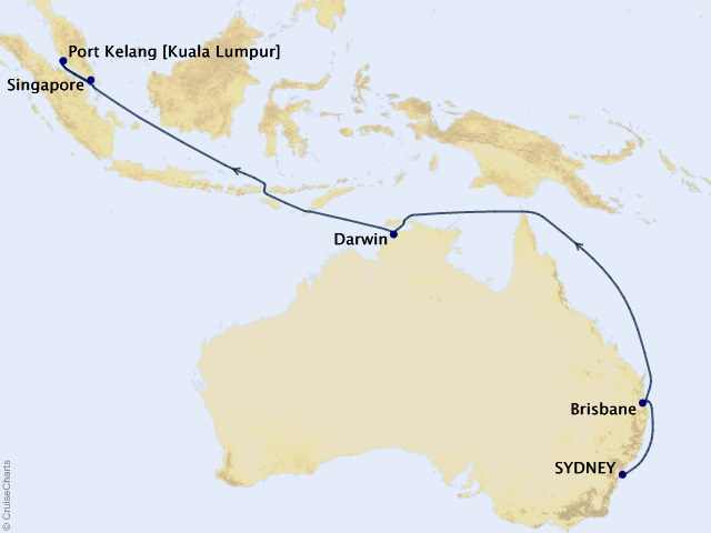15-night Sydney to Singapore Cruise