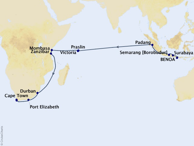 30-night World Cruise – The Dhow Route