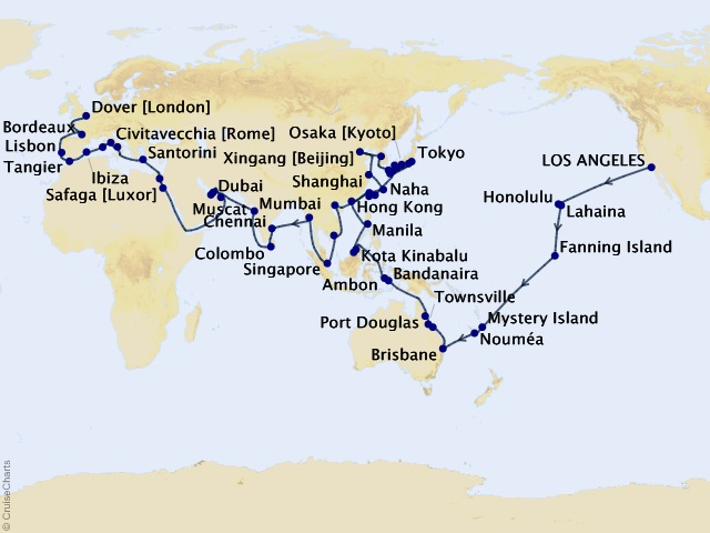 123-night Ancient Dynasties & World Wonders - 2021 Full World Voyage