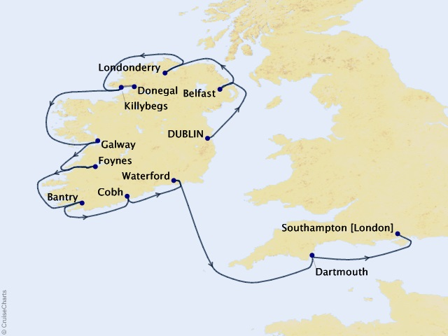 12 night Ireland Intensive Voyage
