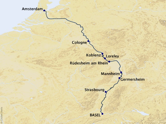 7-night Legendary Rhine River Cruise