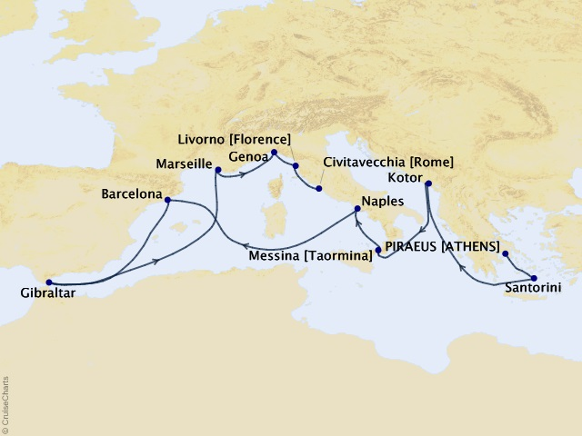 14-night Western Mediterranean and Adriatic Medley Cruise