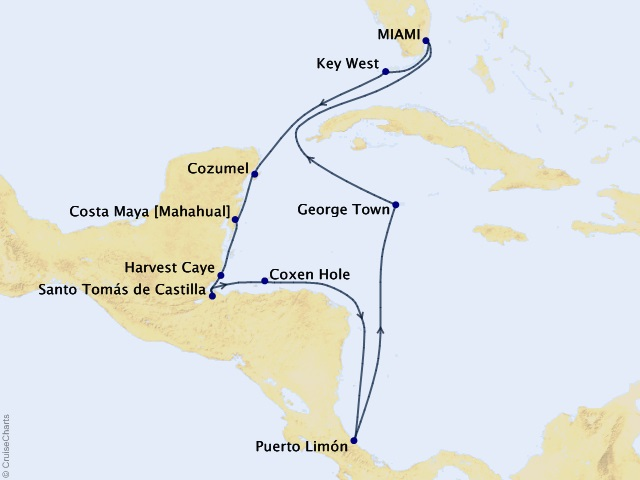 12-night Champagne Toasts & Caribbean Dreams Cruise